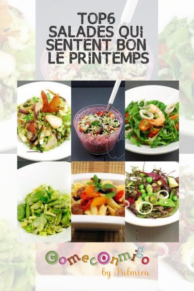 TOP6 SALADES QUI SENTENT BON LE PRINTEMPS