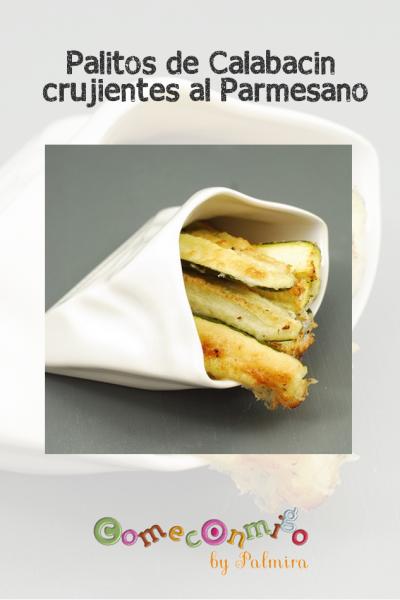 Palitos de calabacín crujientes al Parmesano