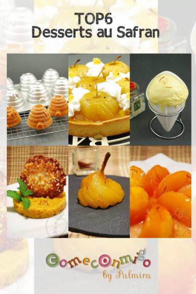 Top6 desserts au safran
