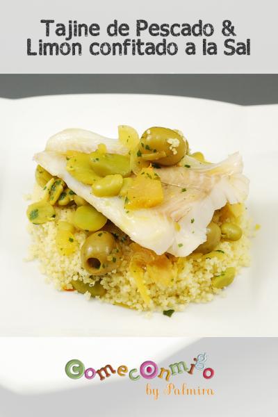 tajine de pescado y limon confitado a la sal