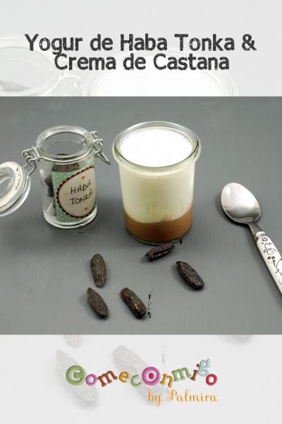 Yogur de haba tonka y crema de castañas
