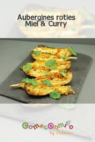 aubergines rôties miel et curry