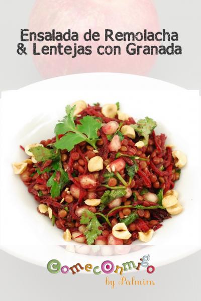 Ensalada de Remolacha & Lentejas con Granada