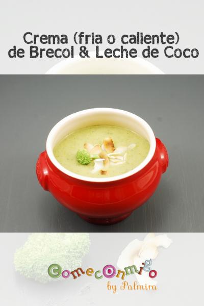 Crema (fria o caliente) de Brecol & Leche de Coco