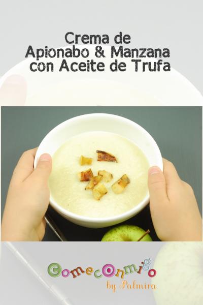 Crema de Apionabo & Manzana con Aceite de Trufa