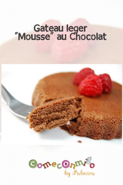 Gateau leger Mousse au Chocolat