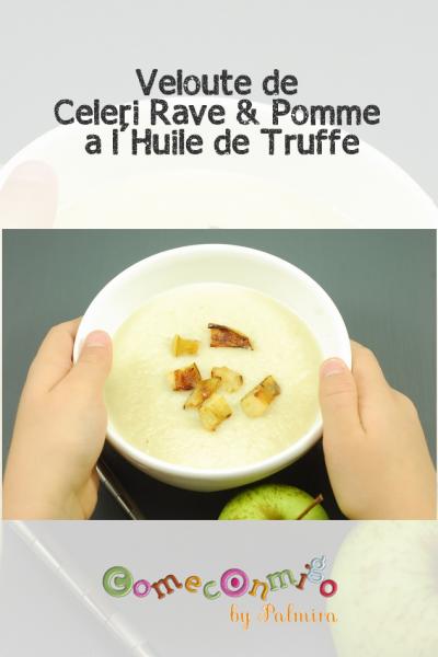 Veloute de Celeri Rave & Pomme a l'Huile de Truffe