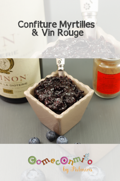 Confiture Myrtilles & Vin Rouge