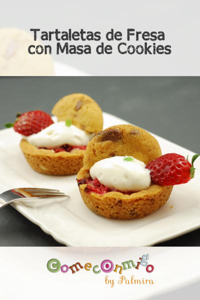 Tartaletas de Fresa con Masa de Cookies