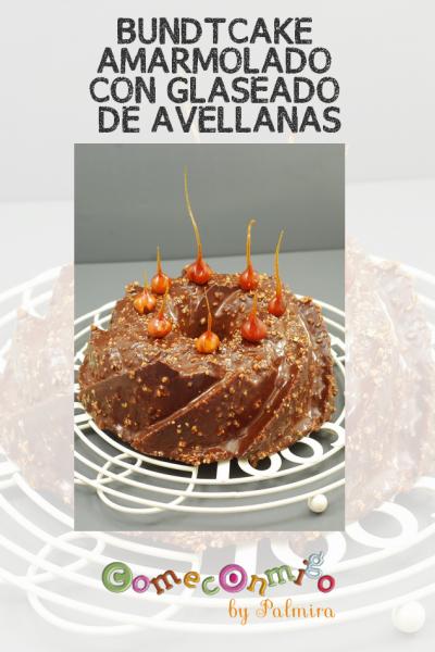 BUNDTCAKE AMARMOLADO CON GLASEADO DE AVELLANAS