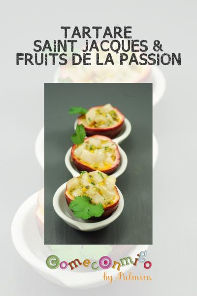 TARTARE SAINT JACQUES & FRUITS DE LA PASSION
