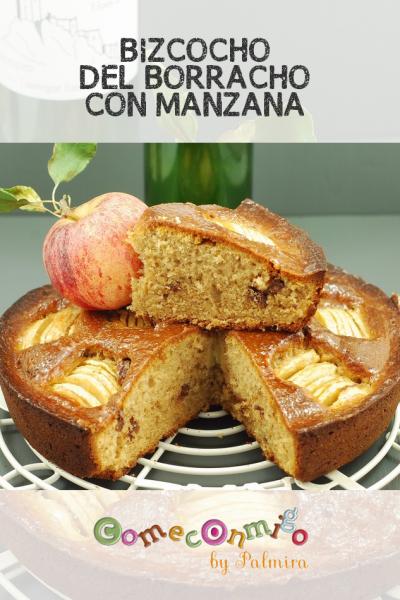BIZCOCHO DEL BORRACHO CON MANZANA