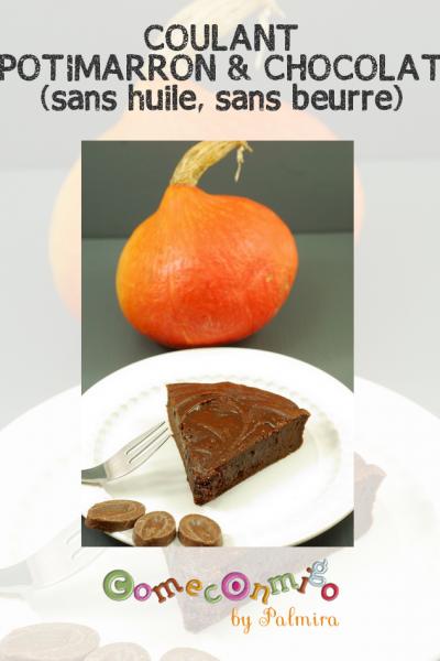 COULANT POTIMARRON & CHOCOLAT (sans huile, sans beurre)